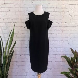 NWT Chico Cold Shoulder Black Dress